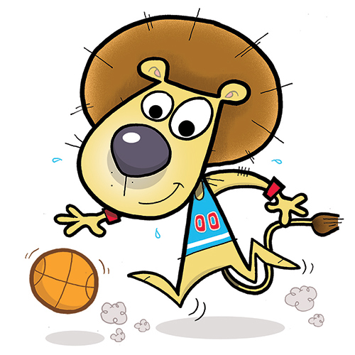 Basketball Lion, Character Mascot