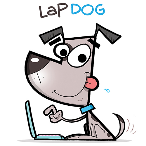 Lap Dog Illustration